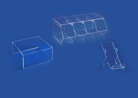 Плексигласови урни, контейнери и стойки